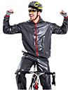 Manches Longues Veste avec Pantalon de Cyclisme - Noir / Vert / Bleu Velo Ensemble de Vetements, Pare-vent, Hiver Couleur unie / Etanche