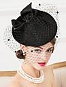 Femei Lână Material Textil Net Diadema-Nuntă Ocazie specială Informal Pălărioare Pălării/Căciuli Voaluri Plasă 1 Bucată
