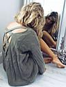 Pentru femei Mată Zilnic Simplu Sexy Plover Manșon Lung În V Iarnă Toamnă Bumbac