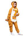 Kigurumi Pijamale Cangur Costume Portocaliu Lână polară Leotard / Onesie Cosplay Festival / Sărbătoare Sleepwear Pentru Animale Halloween