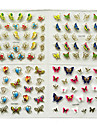 24pcs in 1 large size sheet moon butterfly animal pattern for stamping 3d nail sticker charms bronzing nail art decal