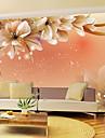 Floral Imagine de Fundal Pentru acasă Contemporan Placare a peretilor , Vinil Material adeziv necesar mural , Tapetul camerei