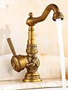 Robinet Bucătărie - Tradițional Alamă Antichizată standard Spout Piesă Centrală