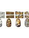 1x10st Animal Skin Leopard Sery heltäckande nagel Stickers (Assorted Patterns)