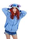 Pijama Kigurumi Blue Monster Pijama Întreagă Costume Lână polară Albastru Cosplay Pentru Sleepwear Pentru Animale Desen animat Halloween