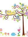 perete decalcomanii autocolante de perete, stil de desen animat bufniță arbori norocos autocolante de perete din PVC