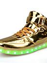 Dam LED-skor PU Vår / Höst Komfort / Slouch stövlar / Lysande skor Sneakers Promenad Platt klack Rundtå Snörning Guld / Silver