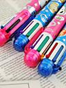 Penna Penna Kulspetspennor Penna, Plast Röd Svart Blå Gul Purpur Grön bläck~~POS=TRUNC For Skolmaterial Kontorsmaterial Förpackning med