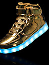 Băieți Pantofi Sintetice Iarnă Confortabili / Ghete / Pantofi Usori Cizme Dantelă pentru Negru / Argintiu / Rosu