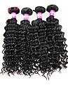 Tissages de cheveux humains Cheveux Malaisiens Ondulation profonde 4 Pièces tissages de cheveux