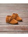 Fete Pantofi Piele Iarnă Cizme la Modă Cizme Toc Pană Franjuri Pentru Casual Negru Maro Rosu