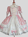 Princess Sweet Lolita Dress Women\'s Dress Cosplay Blue / Pink Long Sleeve Knee Length Halloween Costumes