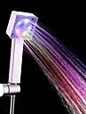Contemporan Duș de Mână Crom Caracteristică-Ecologic LED , Cap de dus