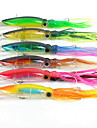 Lot 6Pcs 14 Cm 40G Squid Fishing Lure Minnow Hard Bait 1 0 Hook Fishing Tackle Lure 3D Eyes Top Quality