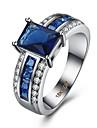Pentru femei Inel Zirconiu Cubic Lux Iubire Modă Zirconiu Articole de ceramică Ștras Oțel titan Pătrat Geometric Shape Bijuterii Nuntă