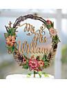 tort topper temă de grădină temă florală clasic temă de epocă temă clasic cuplu acrilic / aniversare de nunta de poliester cu # poly bag
