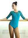 الرقص اللاتيني ملابس ضيقة للرقص للمرأة أداء دانتيل / فسكوزي دانتيل / ربط نصف كم ارتفاع متوسط / قمصان الرضعثوب الراقص
