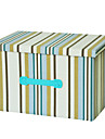 raylinedo® 26L pliabile haine cutie de depozitare panza organizator pătură dulap pulover caseta de acasă docor în dungi albastre