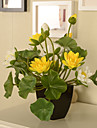 1 ramură PU Lotus Față de masă flori Flori artificiale 30*10*10
