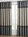 Två paneler Fönster Behandling Nyklassisistisk , Solid Vardagsrum Polyester Material gardiner draperier Hem-dekoration For Fönster