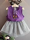 Copil Fete Casual / Șic Stradă Ieșire Dungi Fără manșon / Manșon scurt Set Îmbrăcăminte