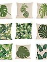 """set de 9 perne tropicale caz verde frunze plante dormitor dormitor acasă decorative (18 """"* 18"""")"""
