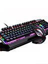 mouse-ul pentru jocuri USB 2400 tastatură mecanică USB axa verde iluminare din spate cu mai multe culori