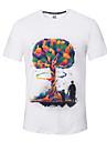 T-shirt Per uomo Sport Attivo / Moda citta Con stampe Rotonda / Manica corta