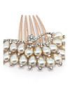 Femei Imitație de Perle Diadema-Nuntă Ocazie specială Informal Piepteni de Păr Εργαλείο μαλλιών 1 Bucată