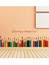 Modă Vacanță Timp Liber Perete Postituri Autocolante perete plane Autocolante de Perete Decorative, Hârtie Pagina de decorare de perete