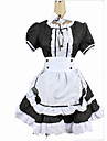 Maid Costume Cosplay Costume Women\'s Christmas Halloween Carnival Festival / Holiday Cotton Black / White Carnival Costumes Solid Colored