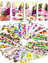 48pcs/set Su Transfer Etiketi / Çivi Çıkartması Çiçek / Nail Decals Çıkartmalar / Tırnak Tasarımı Tasarımı