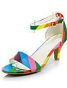 Damă Pantofi Catifea Materiale Personalizate Imitație de Piele Vară Confortabili Pantofi Club Sandale Toc Stiletto Vârf deschis Cataramă