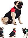 Katt Hund Kappor Väst Hundkläder Färgblock Röd Grön Blå Cotton Kostym För husdjur Herr Dam Håller värmen