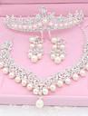 Ștras / Imitație de Perle Imitație de Perle Set bijuterii 1 Colier / 1 Pereche de Cercei / 1 Bijuterii de Păr - Pentru Nuntă / Petrecere