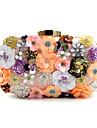 Femei Genți Primăvară Vară Toamnă Iarnă Toate Sezoanele Poliester Geantă Seară Imitație de Perle Cristale/ Strasuri Flori pentru Nuntă