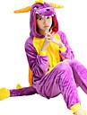 Pijama Kigurumi balaur / Schelet Pijama Întreagă Costume Coral Fleece Cosplay Pentru Adulți Sleepwear Pentru Animale Desen animat