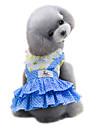 Câine Rochii Îmbrăcăminte Câini Buline Galben Albastru Bumbac Costume Pentru animale de companie Pentru femei Draguț Modă