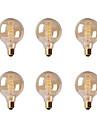 Ecolight™ 6pcs 40W E26/E27 G80 2300 K Incandescent Vintage Edison bec AC 220-240V V
