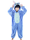 Kigurumi Pijamale Anime Blue Monster Onesie Pijamale Costume Coral Fleece Albastru Rose Cosplay Pentru Copil Sleepwear Pentru Animale