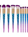 10pcs Professionnel Pinceaux a maquillage ensembles de brosses / Pinceau a Contour / Pinceau Fond de Teint Poil Synthetique Economique /