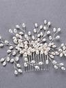 Aliaj Imitație de Perle Diadema-Nuntă Ocazie specială Cordeluțe Păr Stick 3 Piese