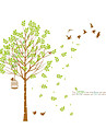 Landskap Mode Botanisk Väggklistermärken Väggstickers Flygplan Dekrativa Väggstickers, Vinyl Hem-dekoration vägg~~POS=TRUNC Vägg Glas /
