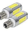 2pcs 3W 300lm E14 Ampoules Mais LED 5 Perles LED COB Blanc Froid 85-265V