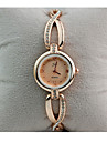 Women\'s Bracelet Watch Simulated Diamond Watch Diamond Watch Quartz Rose Gold Plated Stainless Steel White / Gold 30 m Casual Watch / Analog - Digital Ladies Vintage - White Golden
