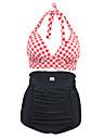 Femei Tankini Femei Cu Susținere Talie Înaltă Monocolor Floral Geometrică Boho Sport Retro Nailon Polyester