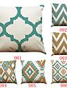 6 pcs Lin Housse de coussin Taie d\'oreiller,Solide Texture Geometrique Traditionnel/Classique Soutenir Plage