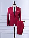 Bărbați Mărime Plus Size Regular Blazer Zilnic Muncă Simplu Vintage Casual,Mată Primăvară Toamnă Toate Sezoanele Poliester