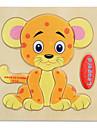 Pedagogiska kort Pussel Träpussel Pinnpussel Utbildningsleksak Tiger Djur Tecknat 1-3 år gammal