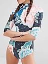 Femei O Piesă Femei Cu Susținere Floral Polyester Spandex